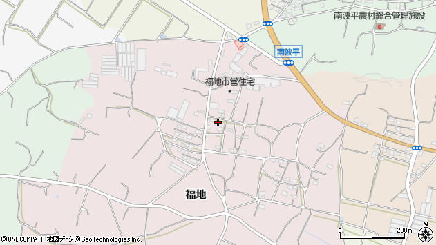 沖縄県糸満市福地周辺の地図