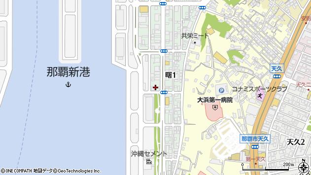 沖縄県那覇市曙1丁目14-35周辺の地図