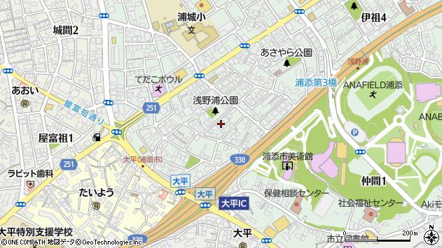 沖縄県浦添市伊祖1丁目周辺の地図