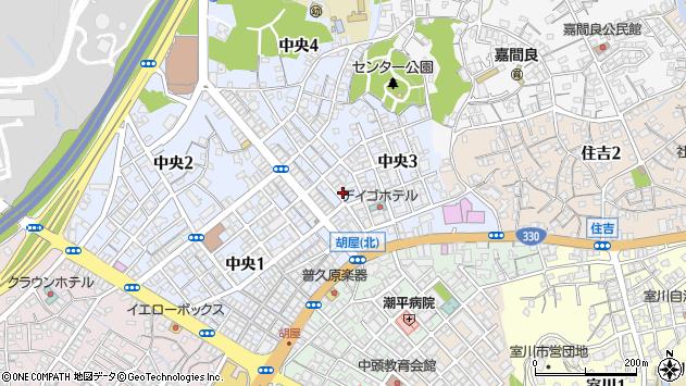 沖縄県沖縄市中央3丁目周辺の地図