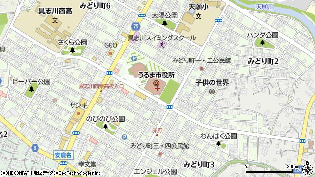 沖縄県うるま市周辺の地図