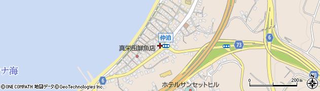 沖縄県国頭郡恩納村仲泊周辺の地図