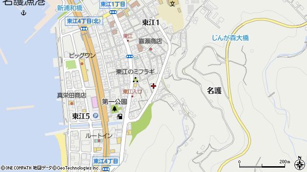 沖縄県名護市東江周辺の地図