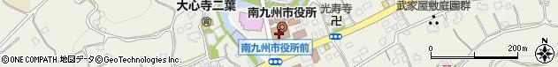 鹿児島県南九州市周辺の地図