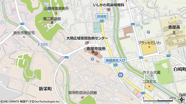 鹿児島県鹿屋市周辺の地図