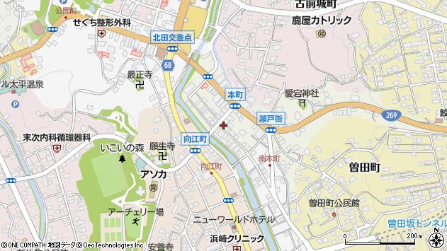 鹿児島県鹿屋市本町周辺の地図