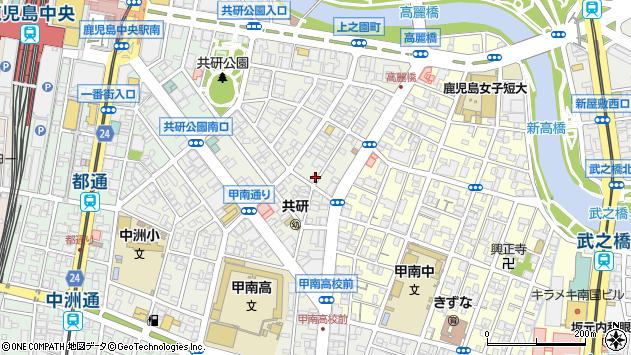 鹿児島県鹿児島市上之園町周辺の地図