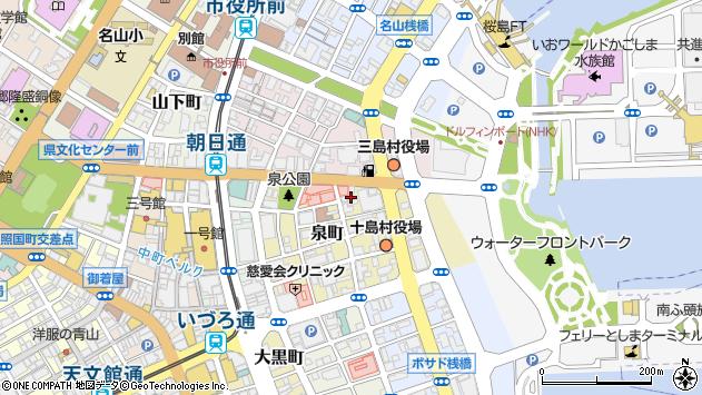 鹿児島県鹿児島市泉町周辺の地図