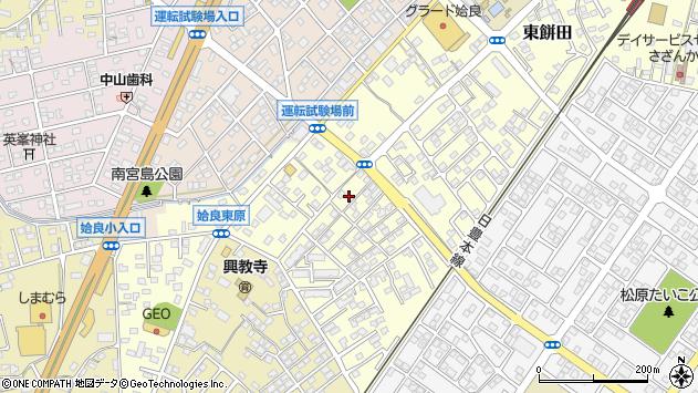 鹿児島県姶良市東餅田周辺の地図