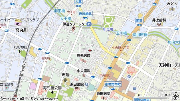 宮崎県都城市牟田町周辺の地図