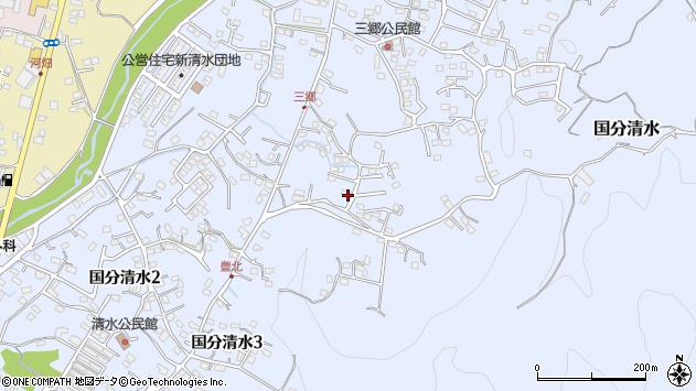 鹿児島県霧島市国分清水3丁目周辺の地図