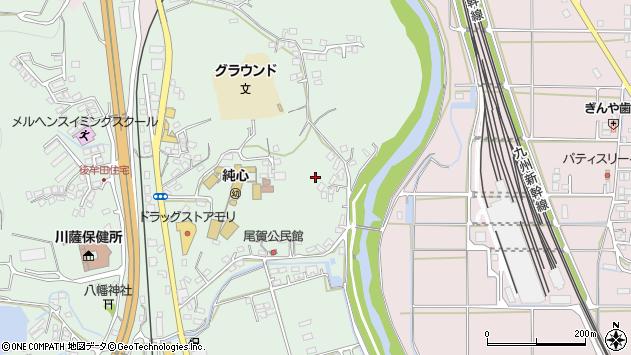 鹿児島県薩摩川内市隈之城町尾賀周辺の地図
