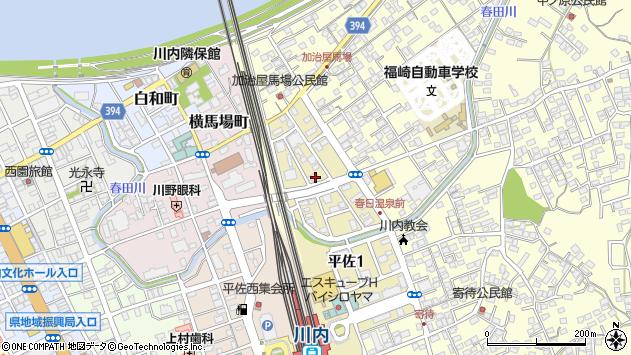 鹿児島県薩摩川内市平佐周辺の地図