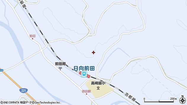 宮崎県都城市高崎町前田割付周辺の地図