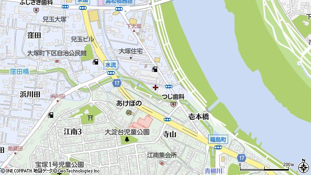 宮崎県宮崎市大塚町水流周辺の地図