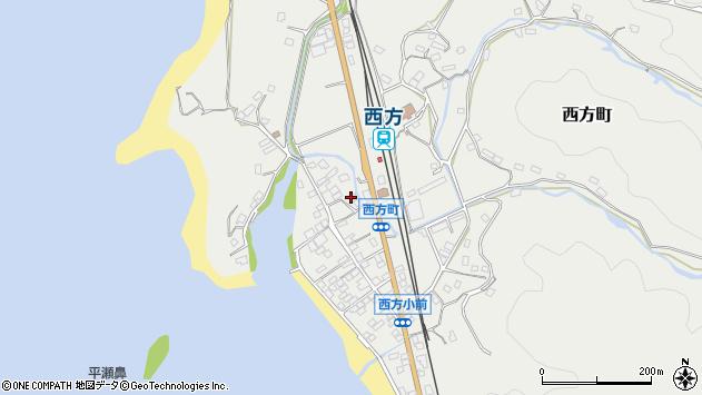 鹿児島県薩摩川内市西方町周辺の地図