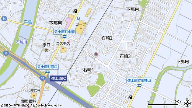 宮崎県宮崎市佐土原町石崎周辺の地図