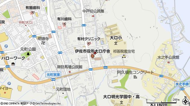 鹿児島県伊佐市周辺の地図