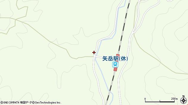 熊本県人吉市矢岳町周辺の地図