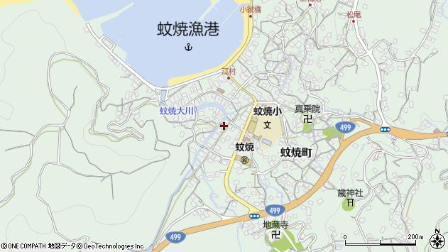 長崎県長崎市蚊焼町周辺の地図