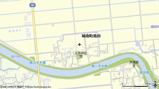 熊本県熊本市南区城南町島田才木周辺の地図