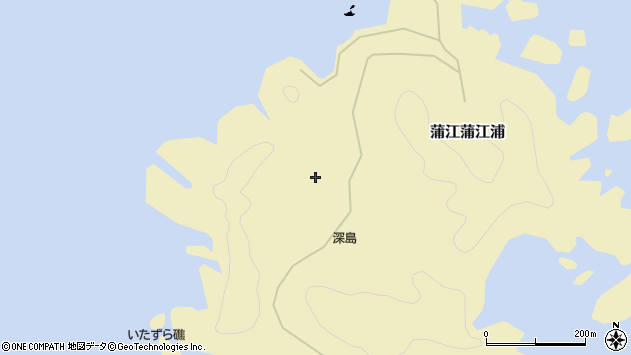 大分県佐伯市蒲江大字蒲江浦深島周辺の地図