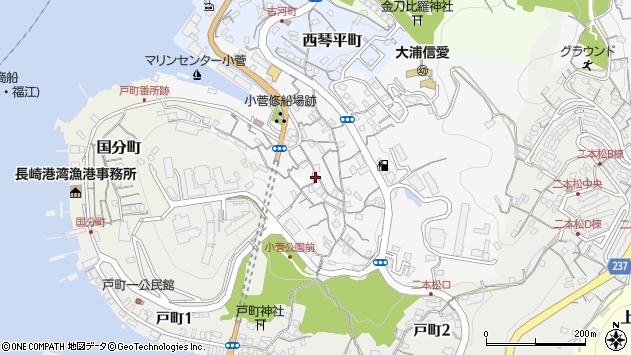 長崎県長崎市小菅町周辺の地図