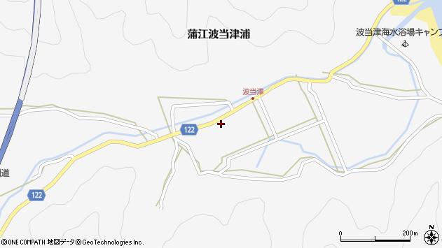 大分県佐伯市蒲江大字波当津浦1122周辺の地図