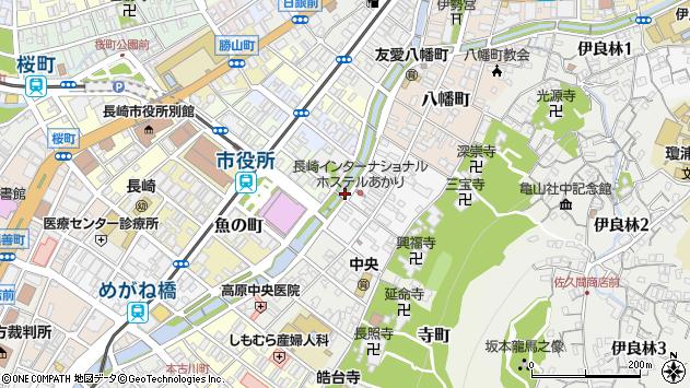 長崎県長崎市麹屋町周辺の地図