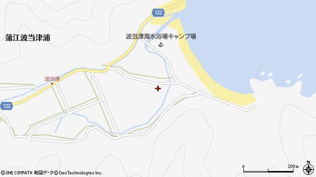 大分県佐伯市蒲江大字波当津浦685周辺の地図