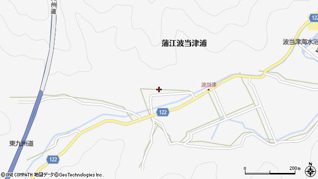 大分県佐伯市蒲江大字波当津浦606周辺の地図