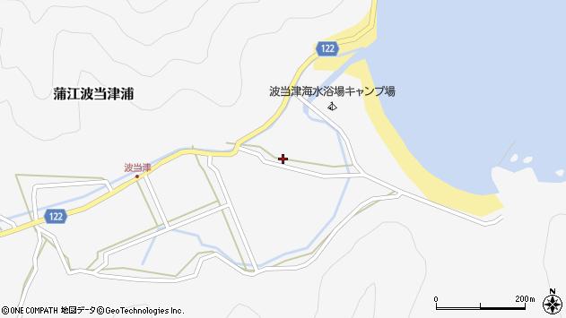 大分県佐伯市蒲江大字波当津浦795周辺の地図
