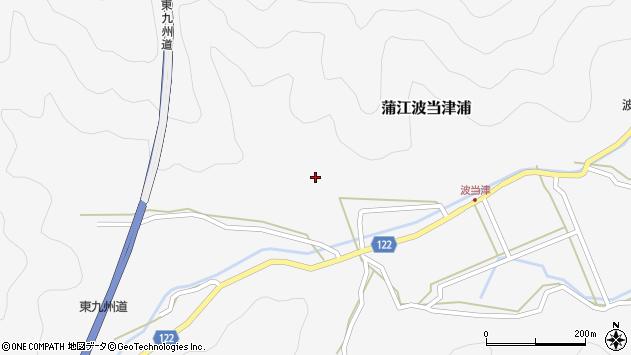 大分県佐伯市蒲江大字波当津浦555周辺の地図