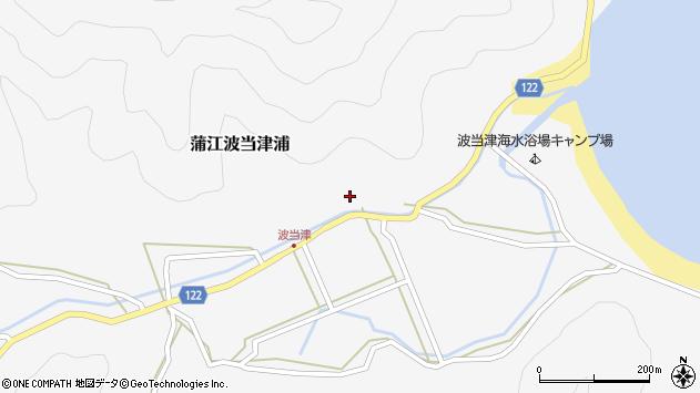 大分県佐伯市蒲江大字波当津浦617周辺の地図
