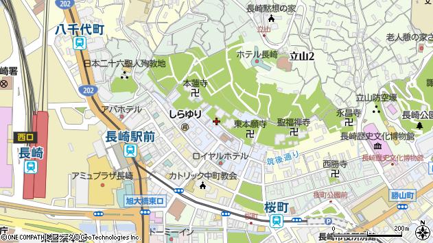 長崎県長崎市筑後町周辺の地図