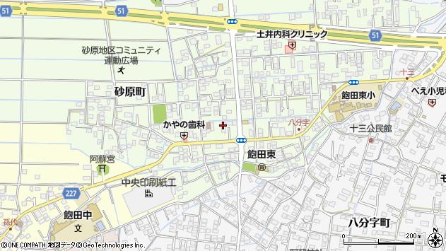 熊本県熊本市南区砂原町周辺の地図