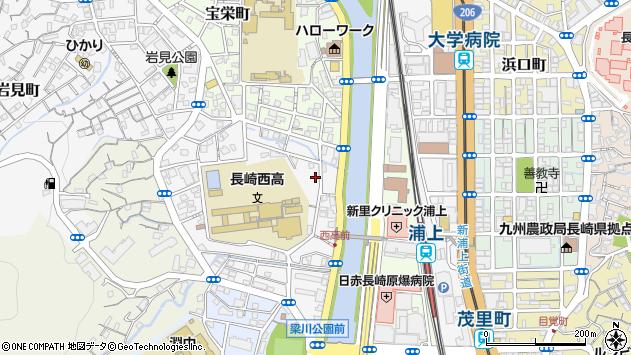 長崎県長崎市竹の久保町周辺の地図