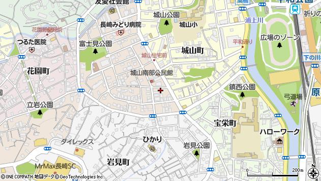 長崎県長崎市富士見町周辺の地図