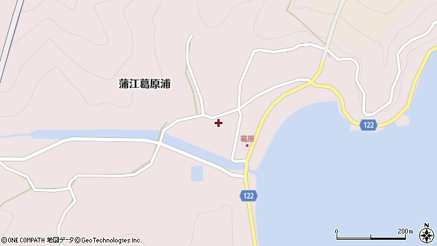 大分県佐伯市蒲江大字葛原浦231周辺の地図