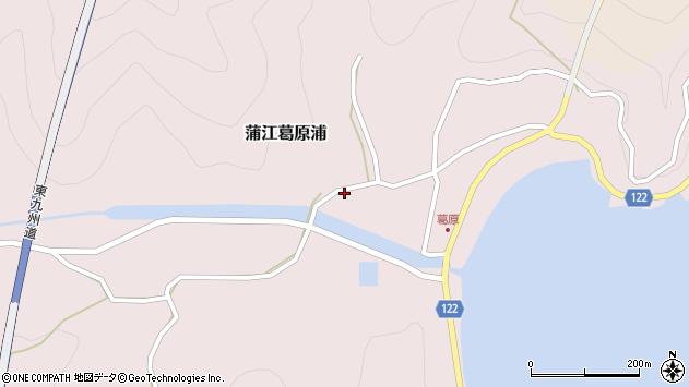 大分県佐伯市蒲江大字葛原浦277周辺の地図