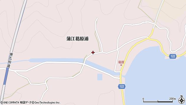 大分県佐伯市蒲江大字葛原浦223周辺の地図