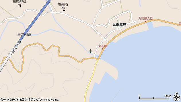 大分県佐伯市蒲江大字丸市尾浦1306周辺の地図