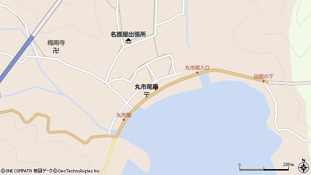 大分県佐伯市蒲江大字丸市尾浦594周辺の地図