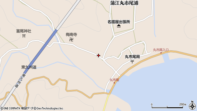 大分県佐伯市蒲江大字丸市尾浦991周辺の地図