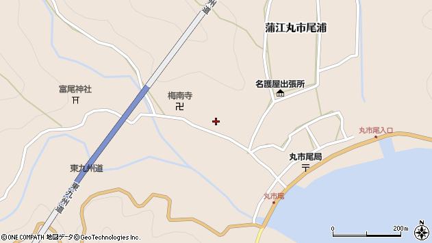 大分県佐伯市蒲江大字丸市尾浦1023周辺の地図