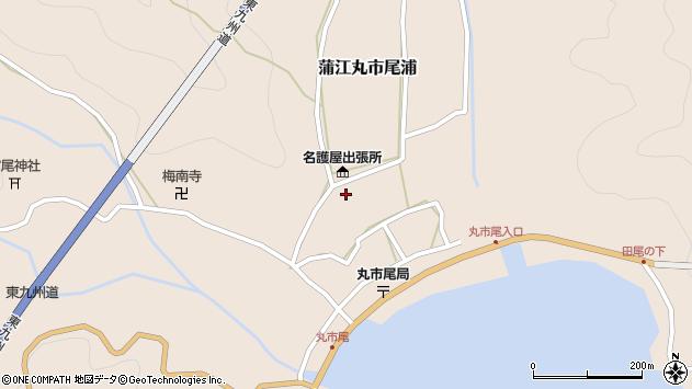 大分県佐伯市蒲江大字丸市尾浦616周辺の地図