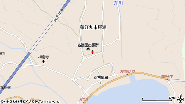 大分県佐伯市蒲江大字丸市尾浦627周辺の地図
