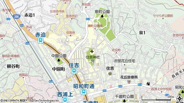 長崎県長崎市住吉町周辺の地図