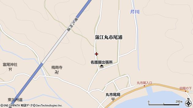 大分県佐伯市蒲江大字丸市尾浦665周辺の地図