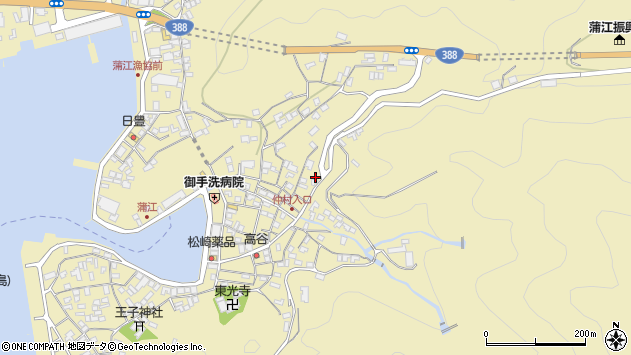 大分県佐伯市蒲江大字蒲江浦2071周辺の地図